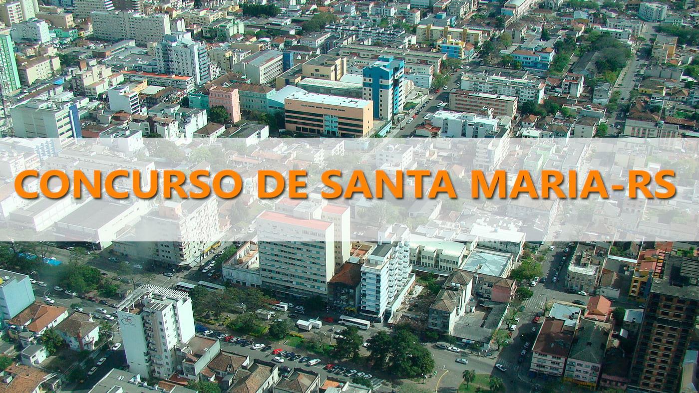 Prefeitura de Santa Maria-RS terá grande concurso em 2019