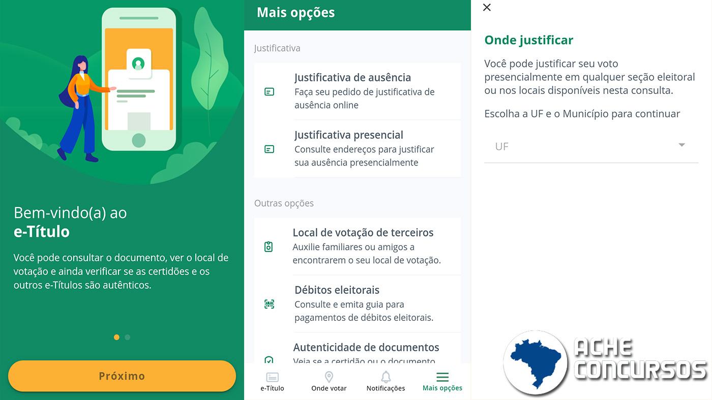 App E-título: como justificar o voto no segundo turno