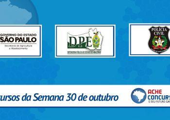 Concursos de 31 de outubro: Polícia Civil-SC e DPE-AM abrem inscrições
