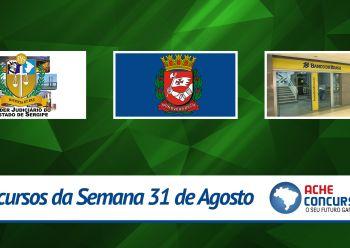 Concursos da semana - 31/08/2015