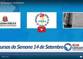 Concursos da semana - 14/09/2015