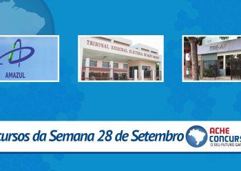 Concursos da semana - 28/09/2015 - TRE's do Amap� e Mato Grosso