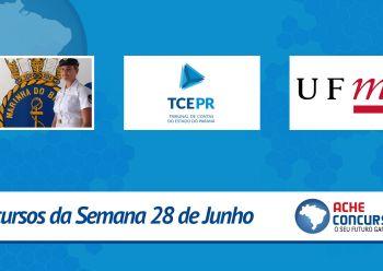 TCE-PR, UFMG e Marinha abrem novos concursos