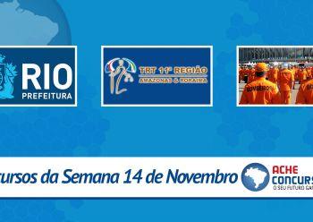 PM-SP, TRT-11 e Prefeitura do Rio de Janeiro abrem novos concursos