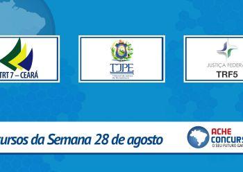 TRT-CE abre inscrições; veja os novos concursos da semana